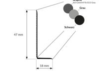 Weichsockelleiste 47 mm Grau