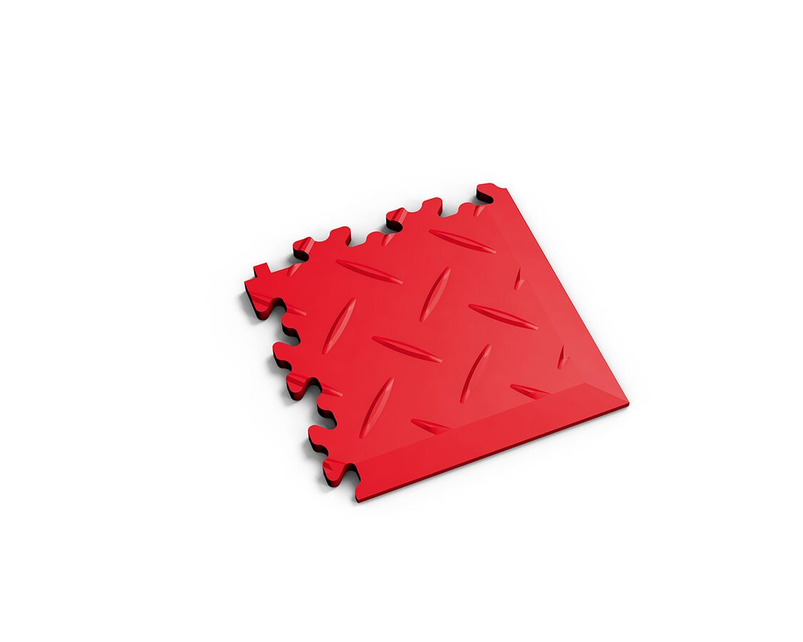Ecke Diamant Rot
